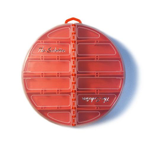 The Solution Round Tackle Box Blaze Orange